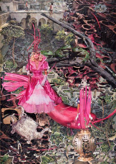 Papier Collage Beetrootprincess